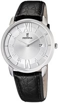 Festina Men's Quartz Watch Klassik F6813/1 with Leather Strap