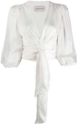 Alexandre Vauthier A V-Neck Wrapped Blouse