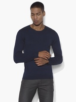 John Varvatos Crewneck Sweater with Shoulder Piping