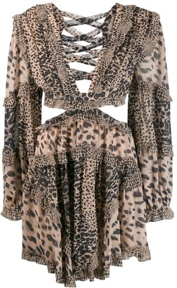 Zimmermann Plunging Animal Print Dress