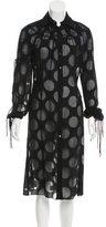 Carolina Herrera Contrast Button-Up Shirt Dress