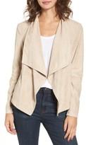 BB Dakota Women's 'Nicholson' Faux Suede Drape Front Jacket