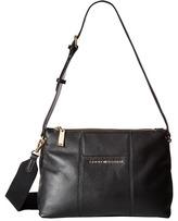 Tommy Hilfiger Pauletta Convertible Pebble Leather Hobo Hobo Handbags