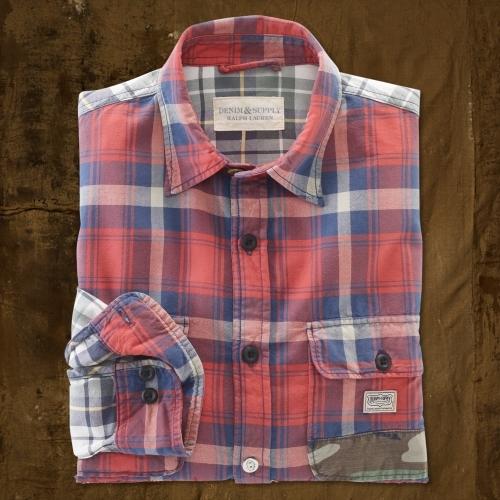 Denim & Supply Ralph Lauren Camo Patchwork Ward Shirt