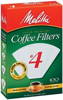 Melitta Cone Coffee Filters White No. 4 100 Count