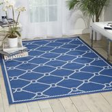 Waverly Sun N' Shade Rope Navy Area Rug (7'9 x 10'10) by Nourison