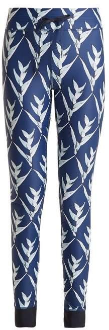 The Upside Daylilies Print Performance Leggings - Womens - Navy Multi