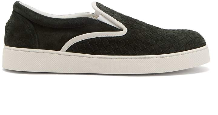 Bottega Veneta Dodger Intrecciato suede slip-on trainers