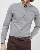 JAMIDOJ Wavy line print cotton shirt