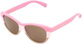 Betsey Johnson Pink Color Block Cat-Eye Sunglasses
