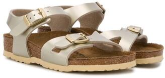 Birkenstock Kids Rio metallic sandals