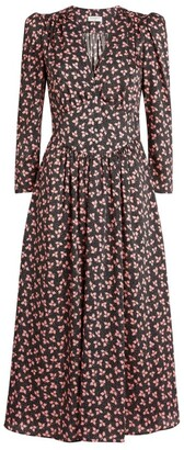 Sandro Floral Midi Dress