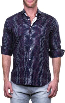 Maceoo Einstein Mosaique Geometric Print Shaped Fit Shirt