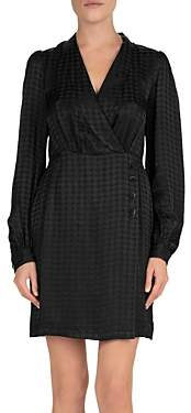 The Kooples Twisty Houndstooth Jacquard Silk-Blend Dress
