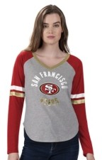 G Iii Sports G-iii Sports Women's San Francisco 49ers Asterisk Long-Sleeve T-Shirt
