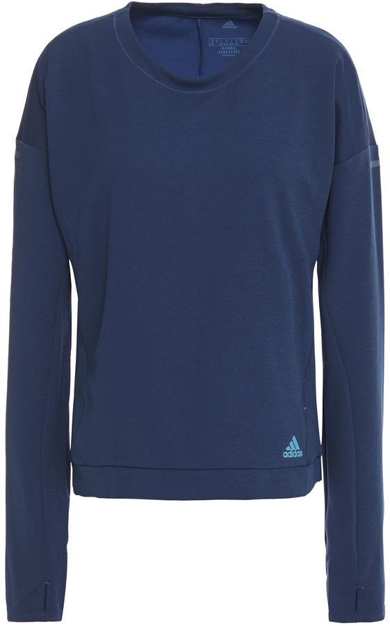adidas Printed Melange Stretch-jersey Top