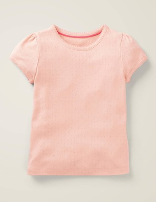 Short-Sleeved Pointelle Top