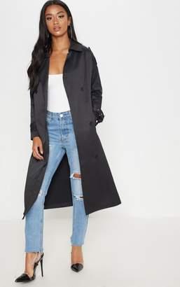 PrettyLittleThing Petite Black Trench Coat