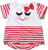 M&Co Smiley face applique stripe t-shirt