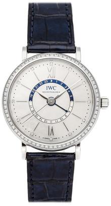 IWC MOP Diamond Bezel Stainless Steel Portofino IW4591-01 Women's Wristwatch 37 MM