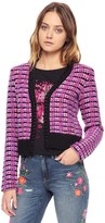 Juicy Couture Tweed Multi Yarn Chain Cardigan
