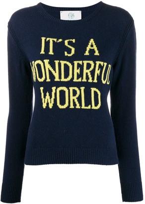 Alberta Ferretti Wonderful World crewneck jumper