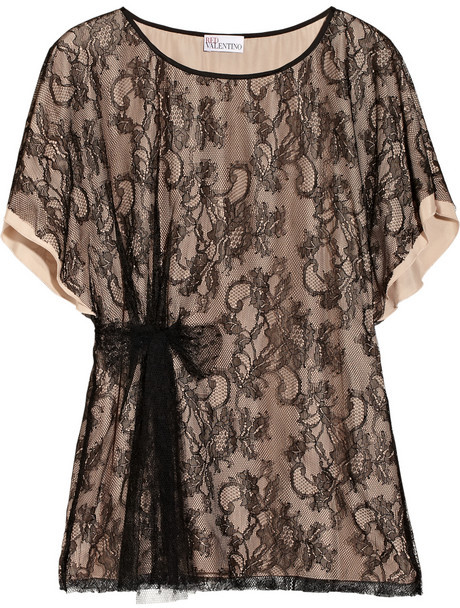 RED Valentino Lace and crepe top
