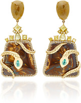 Nina Runsdorf Yahwah Opal Snake Earrings