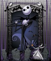 Disney The Nightmare Before Christmas Blanket Throw ~ Jack Skellington & Zero