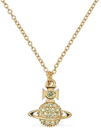 Vivienne Westwood Tamia Long Pendant Necklace W/ Crystals