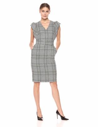 Eliza J Women's Flutter Sleeve Sheath Dress