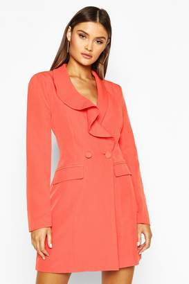 boohoo Ruffle Detail Blazer Dress