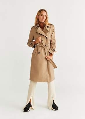 MANGO Classic cotton trench coat