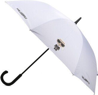 Karl Lagerfeld Paris K/Ikonik logo-print umbrella