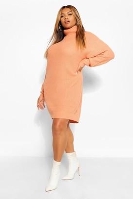 boohoo Plus Roll Neck Jumper Dress