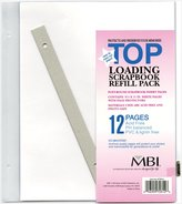 MCS MBI by 8.5 by 11-Inch Scrapbook Page Refills, 6 Pages