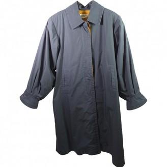 Saint Laurent Blue Cotton Coat for Women Vintage