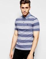 Original Penguin Wide Stripe Polo Shirt - Navy