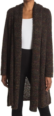 Joseph A Long Sleeve Confetti Boucle Knit Shawl Collar Cardigan