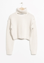 Other Stories Crop Turtleneck Sweater