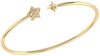 Lmj Starry Night Cuff In 14 Kt Yellow Gold Vermeil On Sterling Silver