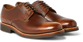 Grenson - Curtis Burnished Full-grain Leather Derby Shoes