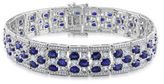 JCPenney FINE JEWELRY Lab-Created Blue Sapphire and Diamond-Accent Sterling Silver Bracelet