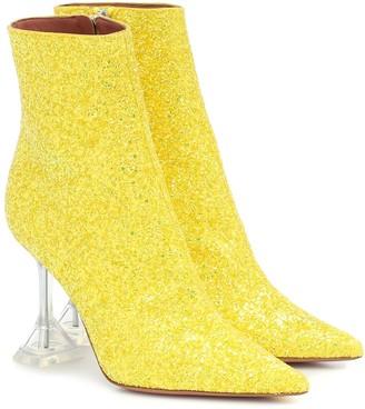 Amina Muaddi Giorgia glitter ankle boots