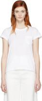 Sacai White Fan Back T-Shirt