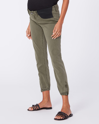 Paige Maternity Mayslie Jogger-Vintage Ivy Green