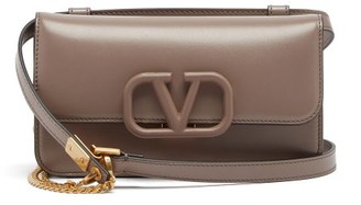 Valentino V-sling Small Leather Cross-body Bag - Womens - Grey