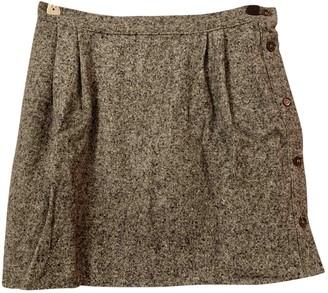 soeur Grey Wool Skirt for Women