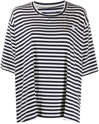 Societe Anonyme short-sleeved stripe print T-shirt