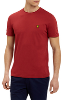 Lyle & Scott Plain Pick Stitch T-shirt, Pomegranate